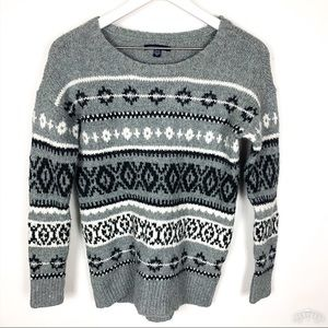 American Eagle | Crew Neck Fair Isle Sweater